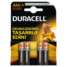 Duracell AAA İnce Kalem Pil 4 Adet