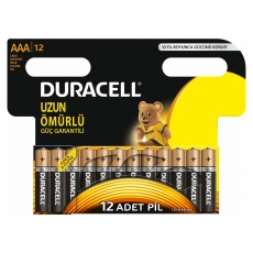 Duracell AAA İnce Kalem Pil 12 Adet
